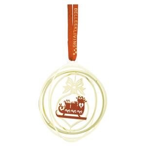 Belleek Living Golden Sleigh Ornament (8572)