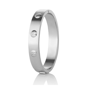 Newbridge Silverware Ti Amo Rhodium Plated Infinity Bangle (EOJ102SR)