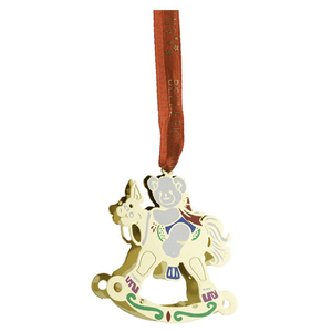 Belleek Living Golden Rocking Horse Ornament (8573)