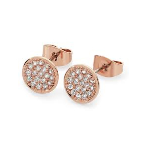 Tipperary Pave Full Moon Rose Gold Plated Earrings 