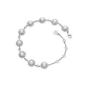 Tipperary Silver Daisy Pearl Bracelet