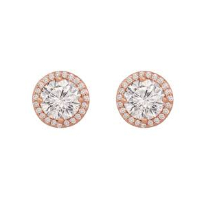 Tipperary Rose Gold Plated Cubic Zirconia Studs