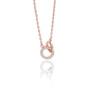 Tipperary Rose Gold Plated 2 Circle Necklet ​