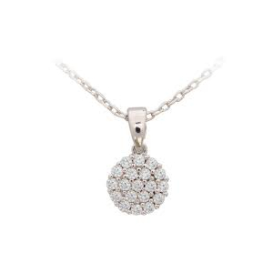 Tipperary White Cubic Zirconia Disc Drop Pendant ​