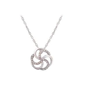 Tipperary White Open Spiral Pendant ​