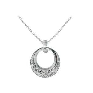Tipperary Silver Plated Pave Pendant 