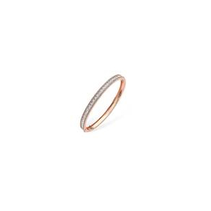 Tipperary Cubic Zirconia Encrusted Rose Gold Plated Bangle