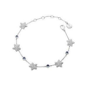 ​Tipperary Silver Plated Star and Blue Cubic Zirconia Bracelet