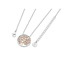 Tipperary 2 Tone Circle with Rose Gold Plated Tree Pendant