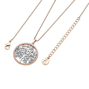 Tipperary Silver and Rose Gold Plated Cubic Zirconia Circle Pendant​