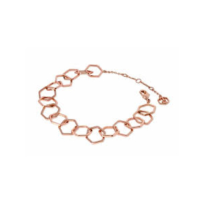 Tipperary Rose Gold Plated Honeycomb Chain Bracelet