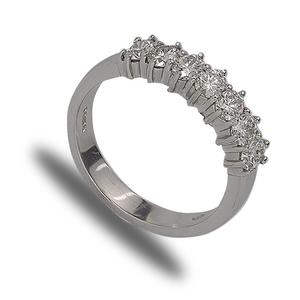 18ct white gold 7 diamond band ring