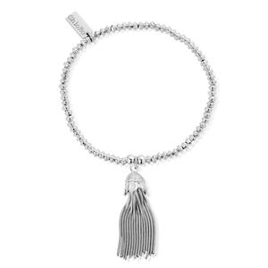 ChloBo Sterling Silver Mini Disc Tassel Bracelet