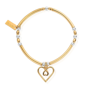 ChloBo Yellow Gold and Sterling Silver Love Heart Bracelet