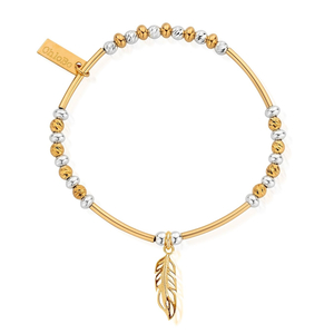 ChloBo Yellow Gold and Sterling Silver Feather Bracelet