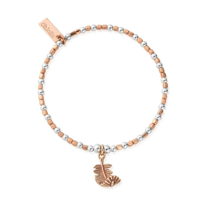 ChloBo Rosegold and Silver Feather Bracelet