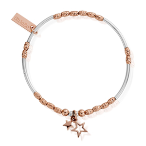 ChloBo Rose Gold and Silver Double Star Bracelet