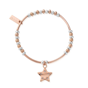 ​ChloBo Rosegold and Silver Star Bracelet
