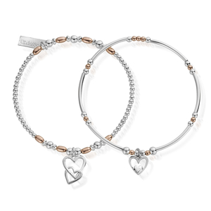 ChloBo Rose Gold and Silver Double Devotion Set of 2