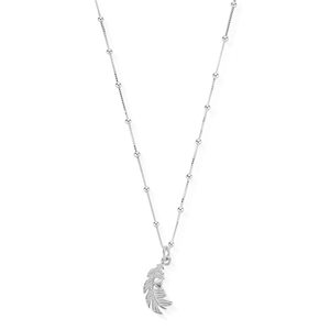 ChloBo Sterling Silver Heart in Feather Necklace