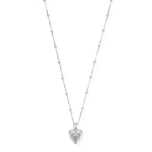 ChloBo Sterling Silver Bobble Chain Heart Necklace