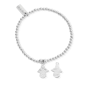 ChloBo Silver Cute Angel Bracelet