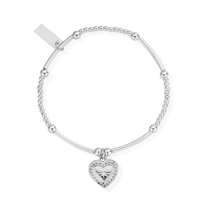ChloBo Sterling Silver Cute Mini Star Heart Bracelet