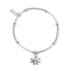 ChloBo Sterling Silver Mini 3D Flower Bracelet