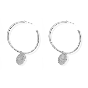 ChloBo Moon Flower Hoop Earrings