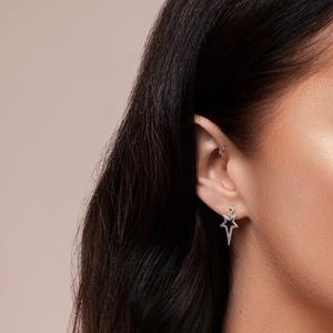 ChloBo Sterling Silver North Star Drop Earrings