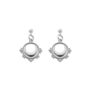 ChloBo Sterling Silver Half Moon Drop Earrings