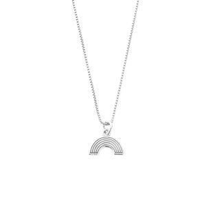 ChloBo Silver Box Chain Rainbow Necklace