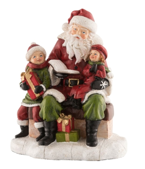 Aynsley Santa reading a story figure