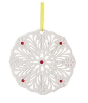 Belleek Living Barnados Snowflake Tree Ornament