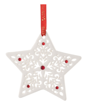 Belleek Living Star Tree Ornament