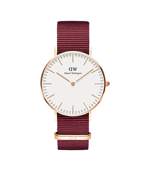 Daniel Wellington Roselyn rose  gold plate strap watch