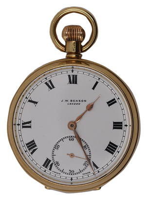 9 carat gold pocket watch