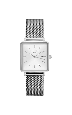 Rosefield The Boxty Mesh Bracelet Watch